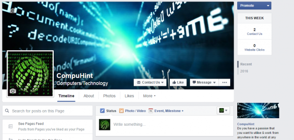 CompuHint Facebook Page