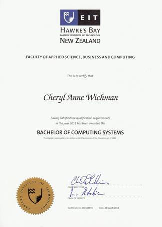 Bachelor of Computing Systems